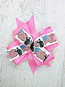 Soldier Military Pink 4 Inch Hair Bow