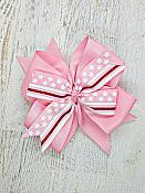 Thin Red Line Pink 4 Inch Hair Bow