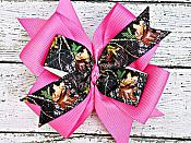 Pink Real Tree Camo 4 Inch Hair Bow