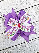 First Grade Purple 1st Grade Cutie 4 Inch Hair Bow