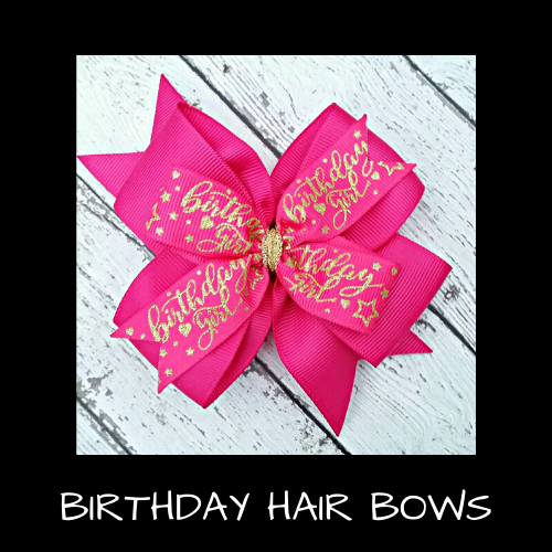 Birthday Hair Bows
