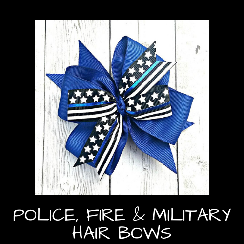 Police, Fire & Military Hair Bows