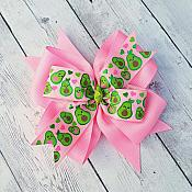 Avocado Pink 4 Inch Hair Bow