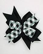 Buffalo Plaid Black and White 4 Inch Hair Bow