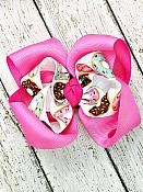 Donut Sprinkles Pink Twisted Boutique 4 Inch Hair Bow