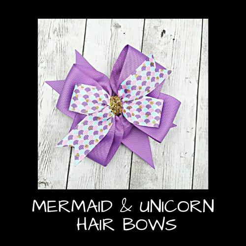 Mermaid & Unicorn Hair Bows