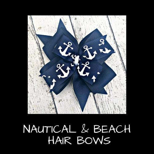 Nautical & Beach Hair Bows