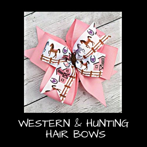 Western & Hunting Hair Bows